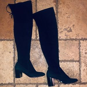 Frye- Black Suede Thigh Highs